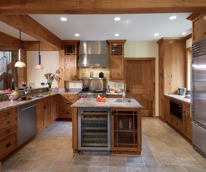 Knotted Oak Kitchen Cabinets: Knotty Alder In Natural Finish